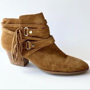 Franco Sarto Ankle Boot Gonzalez Western Fringe